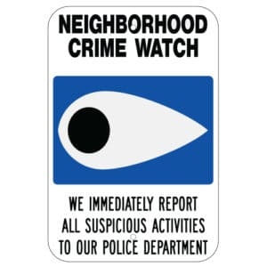Customize Your Own Aluminum Metal Signs - Crime Watch Template - Custom Graphix