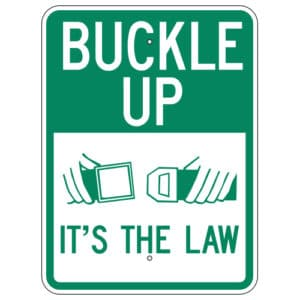 Customize Your Own Aluminum Metal Signs - Buckle Up Template - Custom Graphix