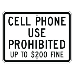 Customize Your Own Aluminum Metal Signs - Cellphone Prohibited Template - Custom Graphix
